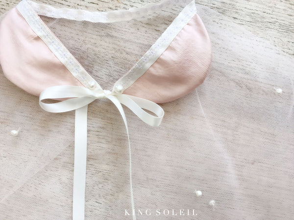 Raining Pearls Cape in Blush