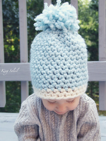Oslo Winter Baby Hat in Ivory and Ebony - King Soleil - 4