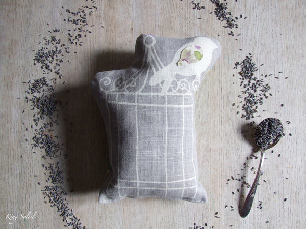 Lavender Pillow Birdcage Swirl in Fog - King Soleil - 2