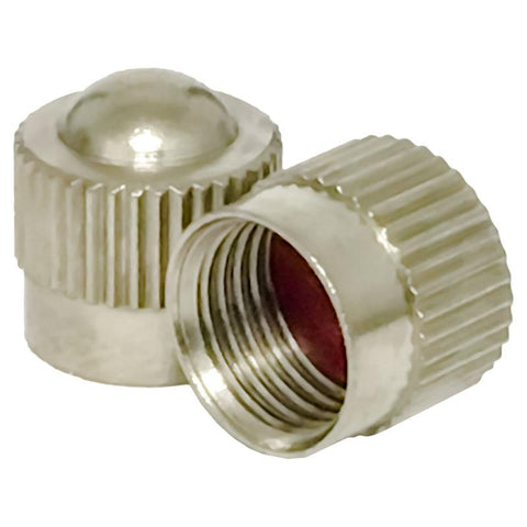 AA Dome-Type Metal Valve Caps (100/Box)