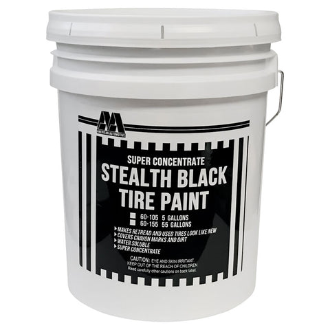 AA Black Paint For Used Tire - 5 Gal / Concentrated