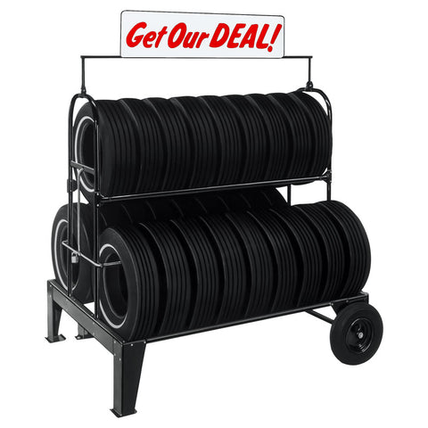 AA 71-112 Three-Tier Tire Rack (w/ Sign)