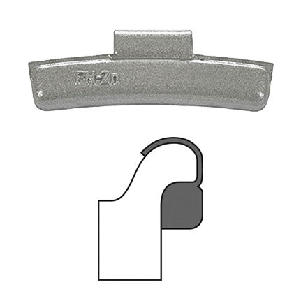 "AA ""FN"" Clip-On Wheel Weight (Zinc / 25/Box)"