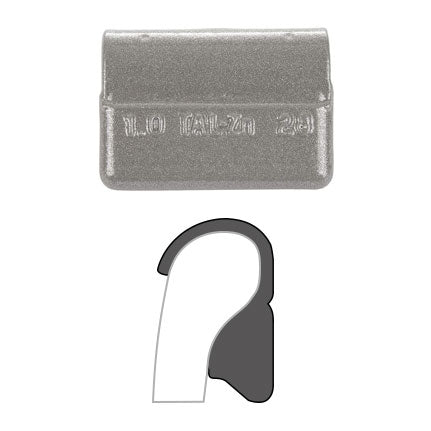 "AA ""TAL"" Clip-On Wheel Weight (Zinc / 25/Box)"