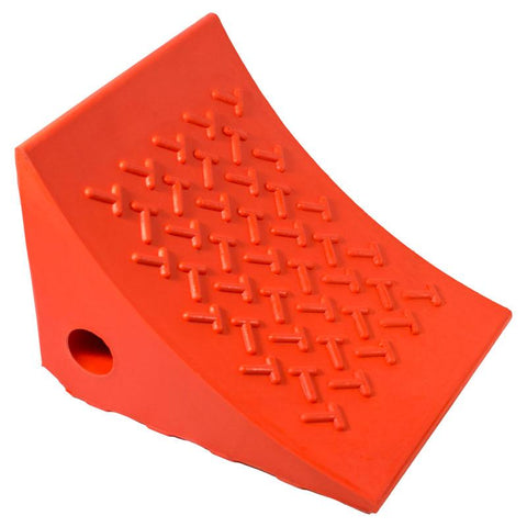 AME 15309 Urethane Wheel Chock, Orange (Ea)