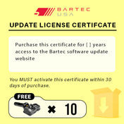 Bartec Software Update License for TPMS Tool w/ FREE Sensors