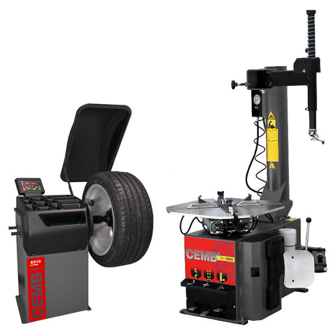 Cemb EZ10 Balancer + SM825 Air Tire Changer COMBO