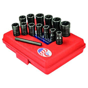 "Ken-Tool 3/8"" Dr. Twist Socket Set with Punch (13 pcs)"