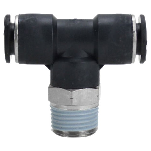 "Milton 3/8"" Male NPT Push to Connect Swivel Branch Tee (Ea)"