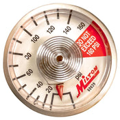 "Milton 1/8"" NPT Center Back Mount Pressure Gauge"
