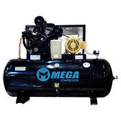 Mega Horizontal Electric Air Compressor (3 Phase / 10 HP / 120 Gal) - MP-10120H3