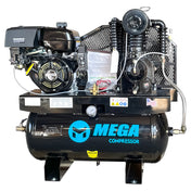 Mega Horizontal Gas Air Compressor (15 HP / 30 Gal) - MP-18030GH