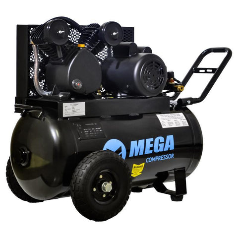 Mega Horizontal Single Stage Electric Air Compressor (2 HP  / 20 Gal) - MP-2020EH