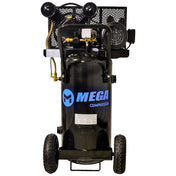 Mega Vertical Single Stage Wheeled Electric Air Compressor (2 HP  / 20 Gal) - MP-2020EV