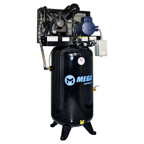 Mega Heavy Duty Vertical Electric Air Compressor (5 HP  / 80 Gal) - MP-5080VM