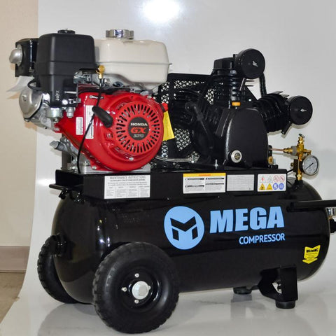 Mega High Capacity GX270 Wheeled Air Compressor (9 HP / 22