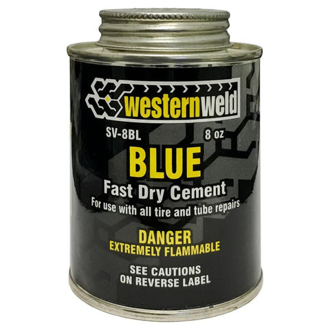 western weld fast drying blue cement 8 oz all tire. Black Bedroom Furniture Sets. Home Design Ideas
