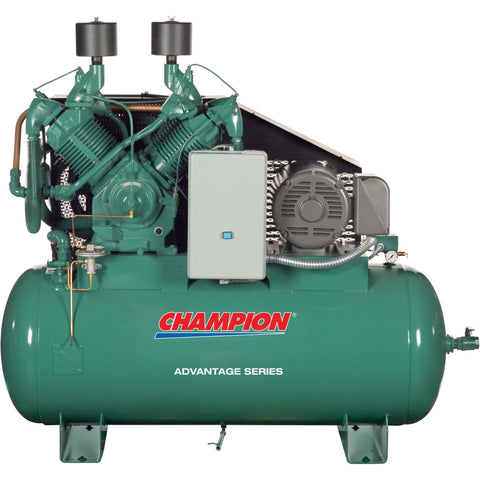 Champion Advantage 25 HP 120 Gal  Two-Stage Horizontal Air Compressor HRA25-12
