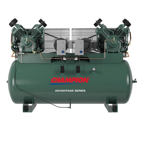 Champion Advantage 7.5 HP 120 Gal  Two-Stage Horizontal Duplex Air Compressor HR7D-12