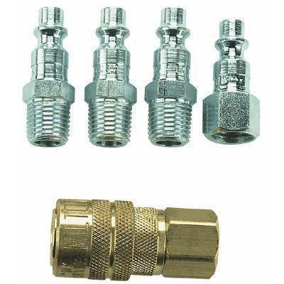 Air Tools - Milton 5 Piece 1/4 In NPT M-Style Coupler Kit