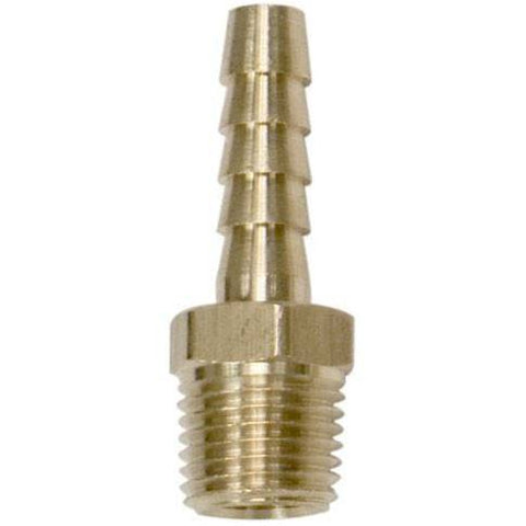 Air Tools - Milton Brass Hose Ends 1/4 In  NPT Male / 1/4 In Shank