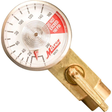 Air Tools - Milton In-Line Air Flow Regulator 1/4 In Female NPT X 1/4 In Male NPT W/ Gage