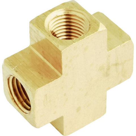 Air Tools - Milton Solid Brass Female Cross 3/8 In
