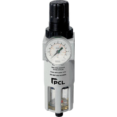 Air Tools - PCL Piggyback Filter - Regulator 0 - 170 PSI W/ 1/4 In FPT