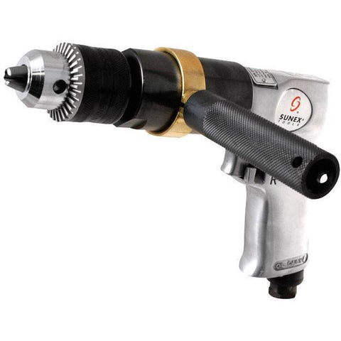 Air Tools - Sunex 1/2 In Reversible Air Drill W/Geared Chuck
