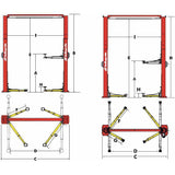 Automotive - Challenger Versymmetric 2-Post Economy Lift 3 Stage Front Arm Design (10,000 Lbs)