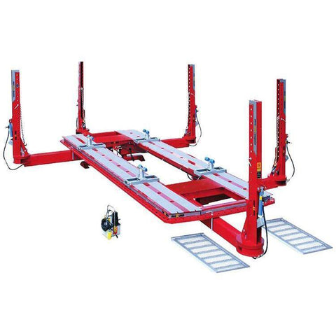 Frame Service - Star-A-Liner Frame Machine Series 5500 18 Ft L Five Tower W/ Complete Acc. Pkg And Air/Hyd