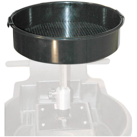Fuel Transfer + Lubrication - JohnDow 16 In Deep-Drawn Offset Steel Funnel W/ Expanded Screen