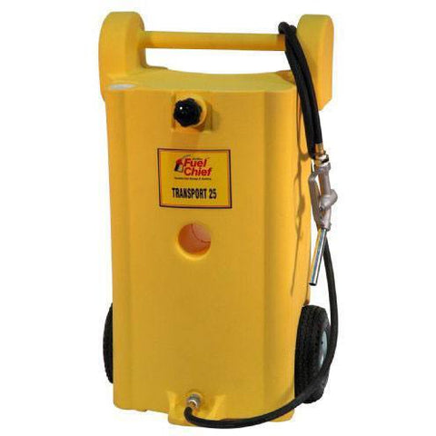 Fuel Transfer + Lubrication - JohnDow Transport 25 Yellow Diesel Poly Gas Caddy (25 Gal)