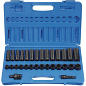 Impact Socket - GP 1/2 In Drive Standard And Deep Metric Socket Set (30 Piece)