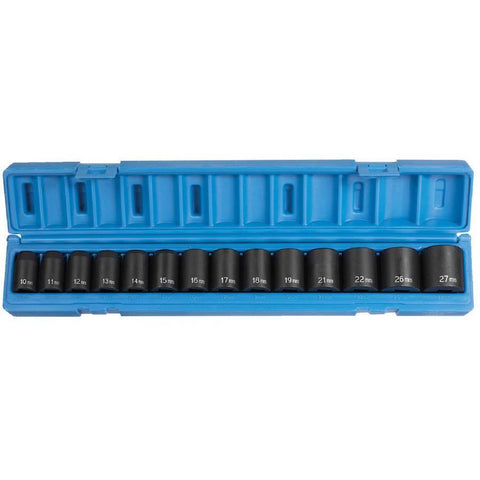 Impact Socket - GP 1/2 In Drive Standard Metric Socket Set (14 Piece)