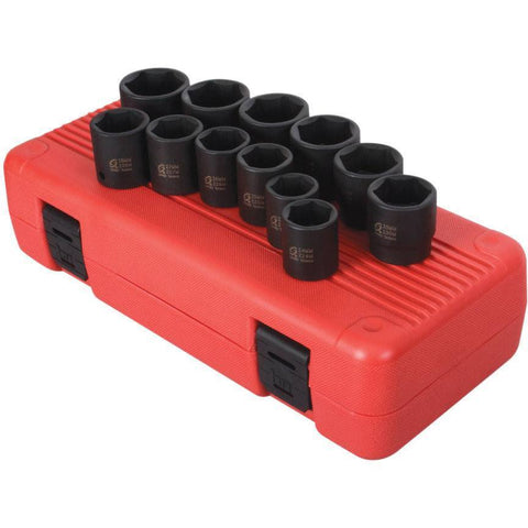 Impact Socket - Sunex 1/2 In Dr. 12 Pc. Metric Impact Socket Set