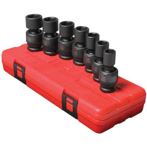 Impact Socket - Sunex 1/2 In Dr. 7 Pc. SAE Universal Impact Socket Set