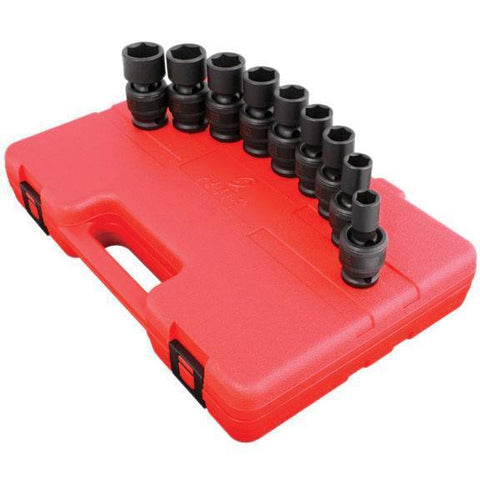 Impact Socket - Sunex 1/2 In Dr. 9 Pc. SAE Universal Impact Socket Set