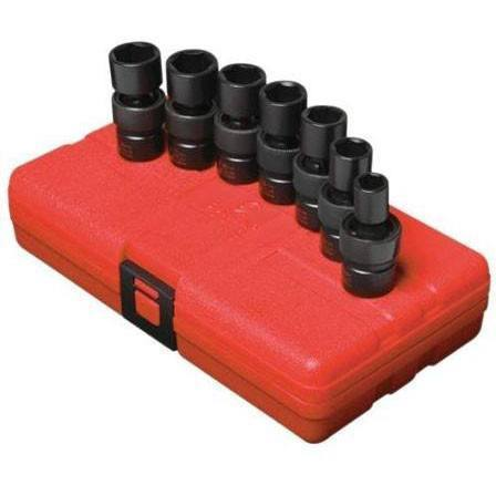 Impact Socket - Sunex 3/8 In Dr. 7 Pc. Metric Universal Impact Socket Set