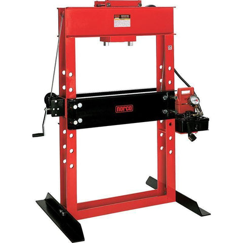 "Shop Equipments - Norco 50 Ton Capacity Electro / Hydraulic Pump Operated Shop Press W/ 6 1/4"" Stroke"