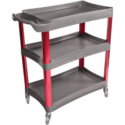 Shop Equipments - Sunex 3 Shelf Plastic Cart W/Anodized Aluminum Legs