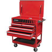 Shop Equipments - Sunex 4 Drawer Service Cart W/Locking Top-Red