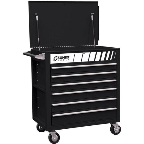 Shop Equipments - Sunex Full Drawer Professional Duty Cart - Black