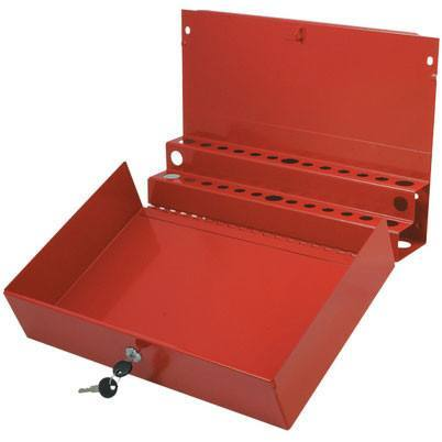 Shop Equipments - Sunex Large Locking Screwdriver/Pry Bar Holder For Service Cart-Red