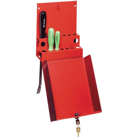 Shop Equipments - Sunex Locking Screwdriver/Pry Bar Holder For Service Cart-Red