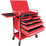 Shop Equipments - Sunex Professional 5 Drawer Service Cart W/Locking Top-Red