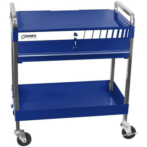 Shop Equipments - Sunex Service Cart With Locking Top And Drawer - Blue
