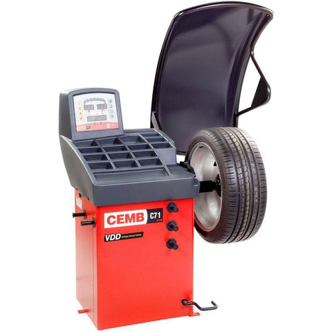 Tire Balancers - CEMB Digital Wheel Balancer W/ Standard Quick Nut Mounting