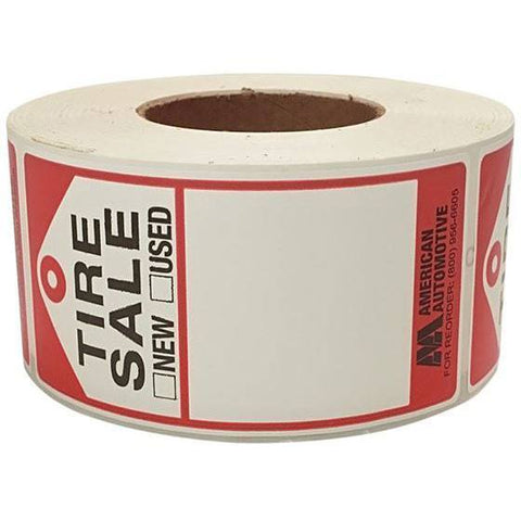 Tire Repair Supplies - AA Used Tire Labels (500/Box)