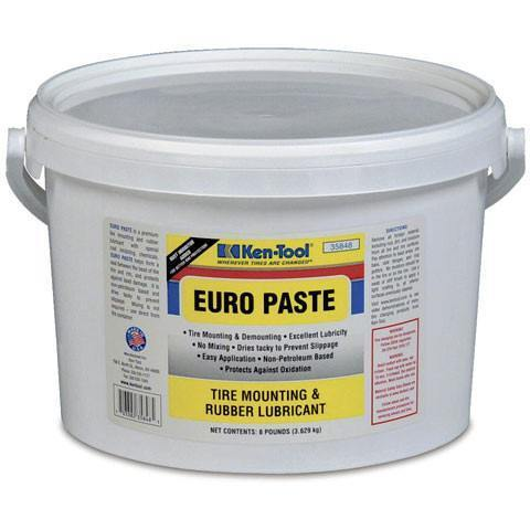Tire Repair Supplies - Ken-Tool Euro Paste Tire Mounting And Rubber Lubricant (8 Lb Bucket)